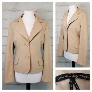 Sandra Angelozzi Beige Tailored Fit Blazer Jacket